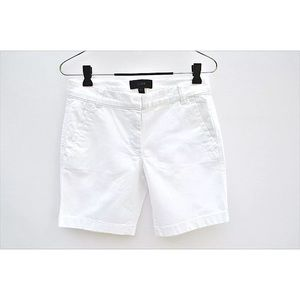 "J crew white 7""  flat denim shorts longer"